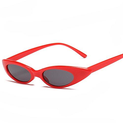 eyes soleil Nikauto Rouge cat femmes lunettes de pour Gris q5R54