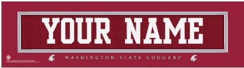 NCAA Jersey Stitch Print Washington State Cougars Personalized Framed