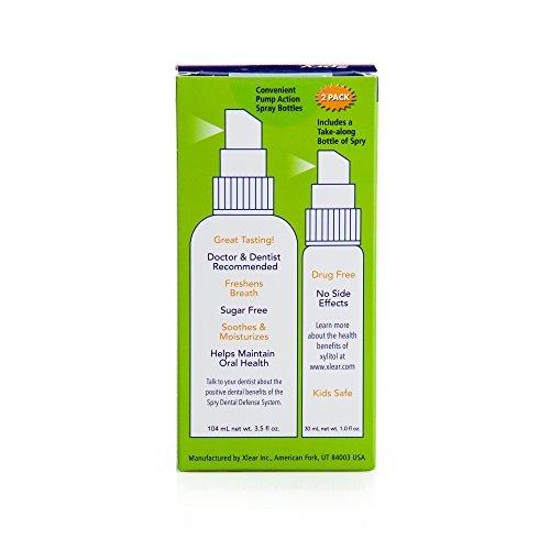 Xlear - Spry Aloe Vera Moisturizing Mouth Spray 4.5 Ounces/134ml (Pack of 2)