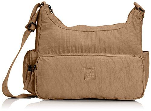 Artsac 50023 Scoop Shoulder Bag - Bolso al hombro de sintético mujer Beige - Beige