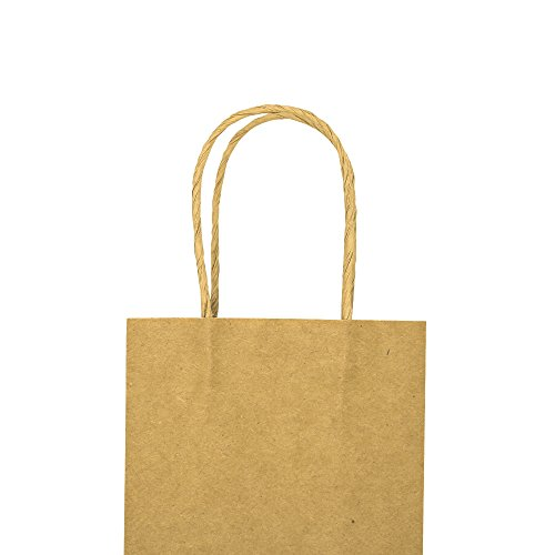 Bagmad Thicker Paper 50 Count 10x5x13, Large Kraft Paper Shopping Bags with Handles,Gift Natural Party Retail Craft Brown Bags,50PCS by Bagmad (Image #8)'