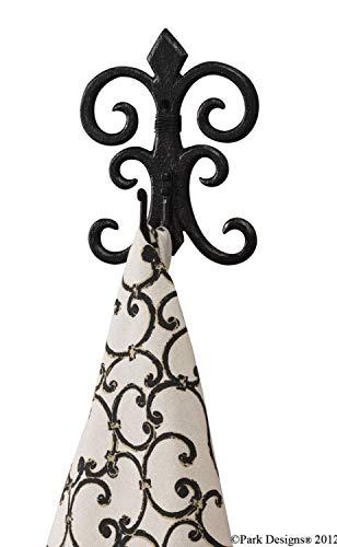 Vintage Antique Hooks Decorative Hook Sussex Scroll Black Wall Fancy Hook