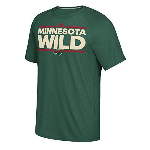 adidas NHL Minnesota Wild Dazzler Ultimate Short Sleeve Tee, Dark Green, ()