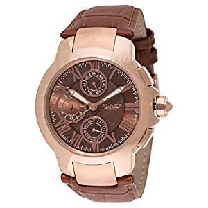Blade Men's Analog Leather Watch - 30-3393G-ROO