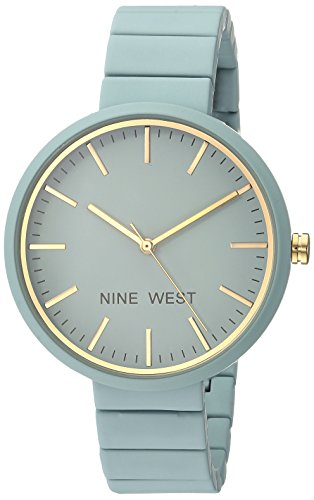 Nine+West+Women%27s+NW%2F2012BLBL+Matte+Blue+Rubberized+Bracelet+Watch