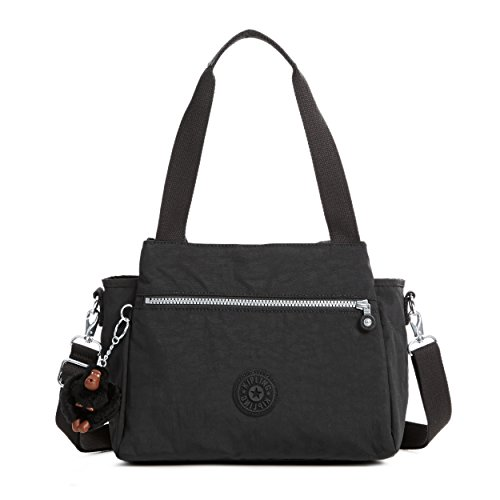 Crinkle Leather Tote - Kipling Elysia Solid Convertible Crossbody Bag, Black