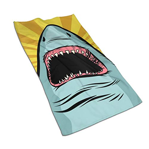 - OBILITDREAM Shark Ocean Predator Marine Fish and Water Parks Face Towel,Hand Towel,Kitchen Towels-Dish 3D Design Pattern Towel,Towels for The Kitchen,Cleaning,Cooking,Baking 15.7x27.5in