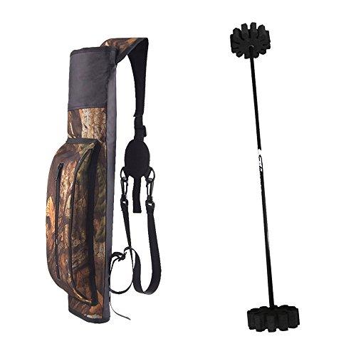 Gazechimp Bogenschießen Rückenköcher, verstellbarer Tragegurt + Für 12pcs Pfeile - Pfeilhalter / Pfeilständer