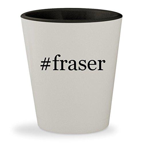 #fraser - Hashtag White Outer & Black Inner Ceramic 1.5oz Shot Glass