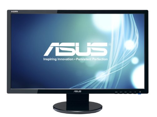 "ASUS VE248H 24"" Full HD 1920x1080 2Ms HDMI DVI VGA Back-Lit LED Monitor,Black"