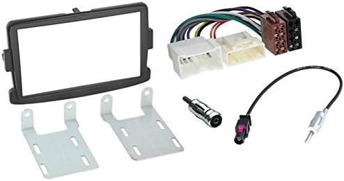Marco adaptador para radio de coche 2DIN Color gris oscuro AERZETIX