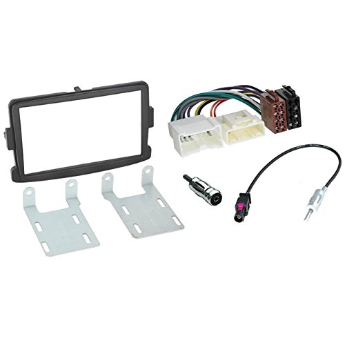2 Din car stereo fitting kit fascia for DACIA RENAULT duster sandero 2012-2017 black Sound-way