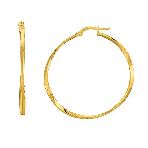 14K Yellow Gold Shiny Squaretu