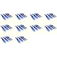 10 x Quantity of Revell QG 550 Mini Quadrocopter Transparent Clear Blue Propeller Blades Props Rotor Set 55mm Factory Units