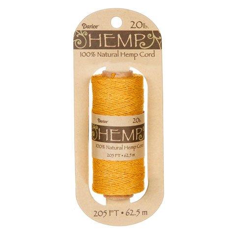 Bulk Buy: Darice DIY Crafts Hemp Cord 20lb Weight Gold 205 f