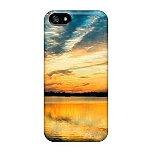 Pretty QbSMGbP1417KDmQF Iphone 5/5s Case Cover/ Beautiful Riverscape Series High Quality Case