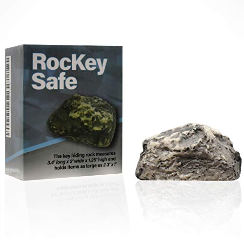 Hide A Key in Plain Sight in a Real Looking Rock/Stone, Holds Standard Sized Spare ()
