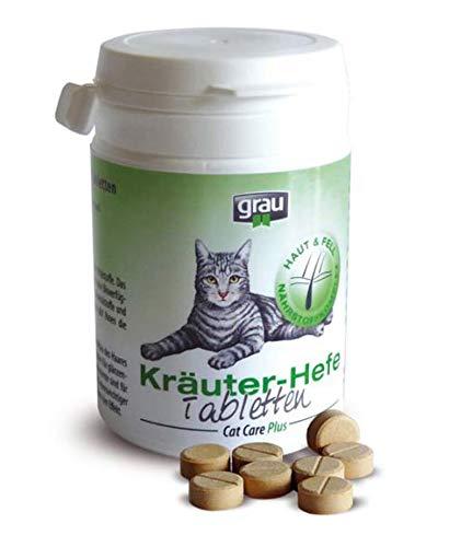 Grau Pastillas de levadura de Hierbas Grises para Gatos, 200 Pastillas: Amazon.es: Productos para mascotas