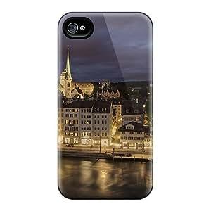 New Design Shatterproof Case For Iphone 4/4s (zurich City)