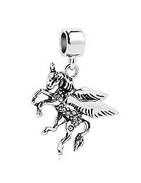 Charmed Craft Dangle Unicorn Charm Beads For Charms Bracelets