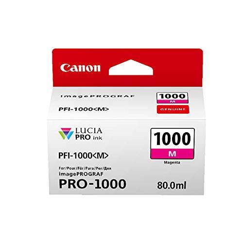 Canon Tintenpatrone PFI-1000 M magenta - 80 ml ORIGINAL für imagePROGRAF PRO-1000