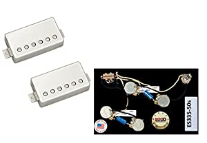 412 pkn7PqL._SX300_ amazon com duncan pearly gates humbucker pickup set, nickel es335 pre-wired 335 harness at soozxer.org