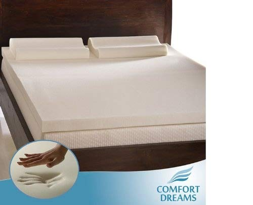 Comfort Dreams 3-inch Memory Foam Mattress Topper w/Contour Pillow Set- ()