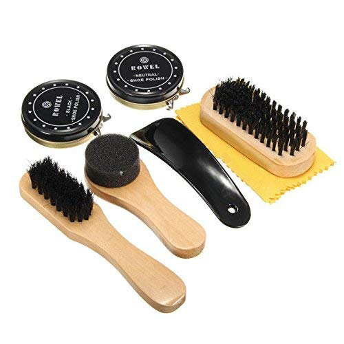 TOCGAMT Shoe Polish Kit 6 in 1 Travel with Case