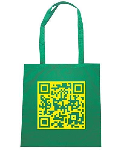 Borsa Shopper Verde FUN1133 CUSTOM SCANNABLE QR CODE