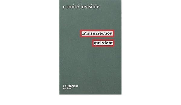 L INSURRECTION QUI VIENT EBOOK
