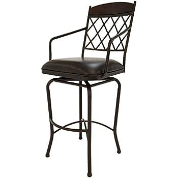 this item pastel furniture napa ridge swivel barstool 34inch autumn rust with walnut and florentine coffee - Pastel Furniture