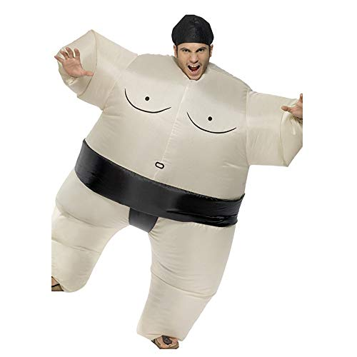 (Inflatable Adult Sumo Wrestler Costume,Wrestling Suit for Halloween,Fancy Dress,Cosplay)