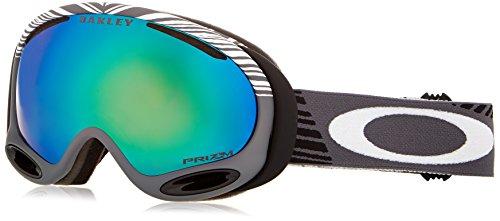 (Oakley A-Frame 2.0 Shaun White Echelon Mens Prizm Signature Series Snow Snowmobile Goggles Eyewear One Size Fits All Gunmetal Grey/Jade)