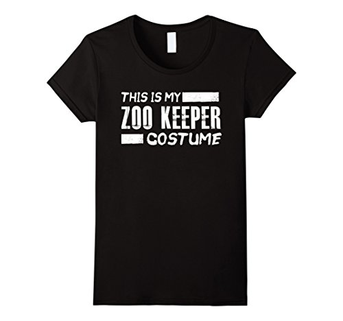Womens This is my Zoo Keeper Costume Funny Halloween Holiday Shirt Small Black