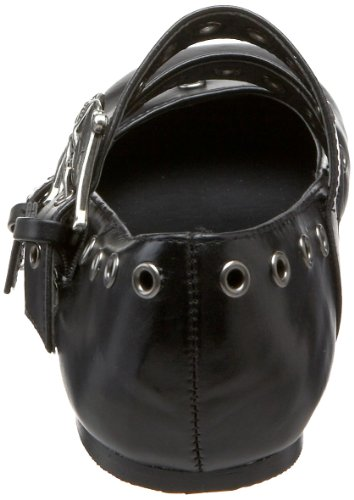 Blk donna basse Vegan Scarpe Leather Demonia awqxZtgg