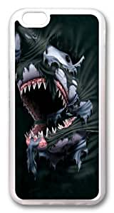 iphone 6 plus Case,Breakthrough Shark TPU Custom iphone 6 plus 5.5 inch Case Cover Transparent
