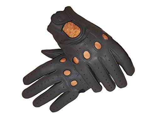 Sheepskin leather driving gloves for men (Large)