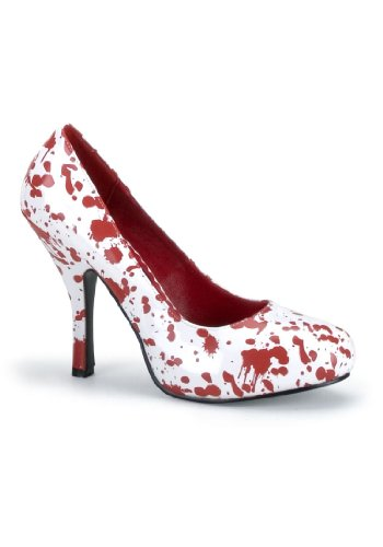 Funtasma by Pleaser Women's Bloody-12 Pump,White Patent/Red,9 M US