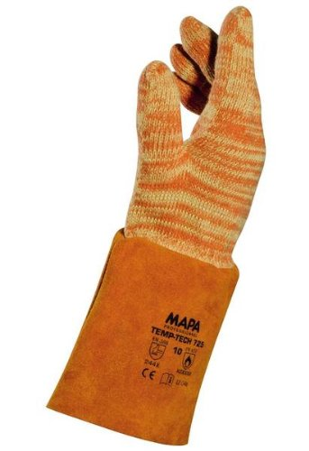 MAPA Temp-Tech 725 Cotton Heavyweight Glove, High Temperature, 14 Length, Size 10, Orange (Bag of 6 Pairs) by MAPA Professional  B00BNMT1G8