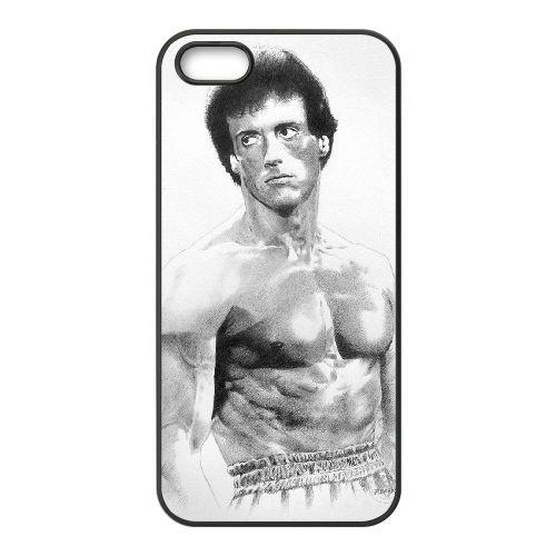 X5K31 Rocky Balboa Sylvester Stallone R0Z8JE coque iPhone 4 4s cellule de cas de téléphone couvercle coque noire KP7XXY2LW