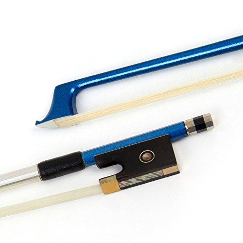 Kmise - Arco para violín de fibra de carbono 4/4 azul