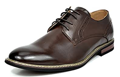 Bruno Marc Men's Prince-16 Dark Brown Leather Lined Dress Oxfords Shoes - 6.5 M US