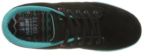 Globe Lighthouse Slim - Zapatillas de Skateboarding de cuero nobuck hombre negro - Noir (20040)