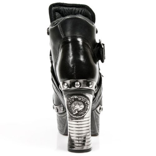 Elegante New Rock Damenschuhe auf Plateausohle Z010-C1 Black