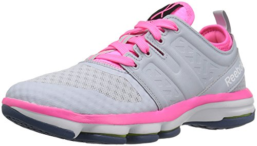 Reebok Women's Cloudride Dmx Walking Shoe, Pr-Cloud Grey/Poison Pink, 7.5 M US (Womens Tennis Shoes Reeboks)