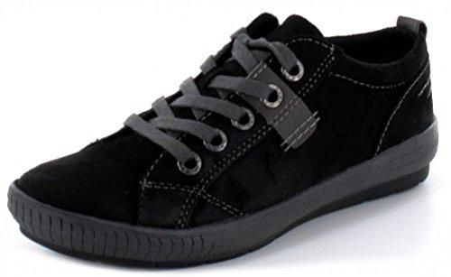 MARCO TOZZI donna semi scarpa Sneaker in colore nero con interno suola rimpicciolitore