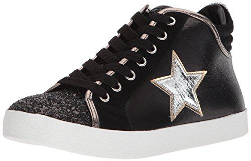 Steve Madden Femmes Sauveur Sneaker Noir Daim