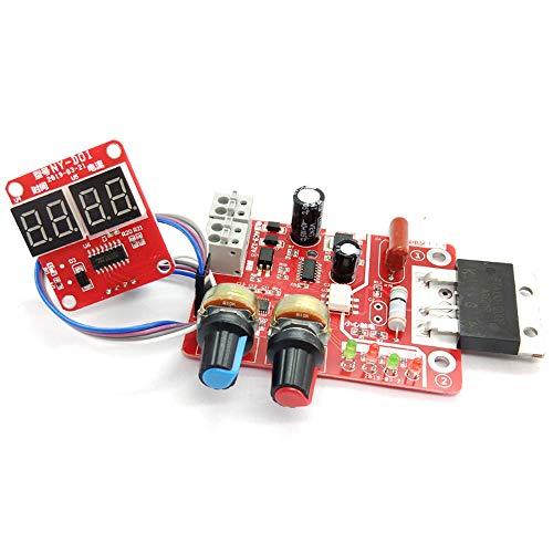 Leepesx 100A Spot Welding Machine Control Board Adjustable Time Current Digital Display Welder Transformer Controller Board