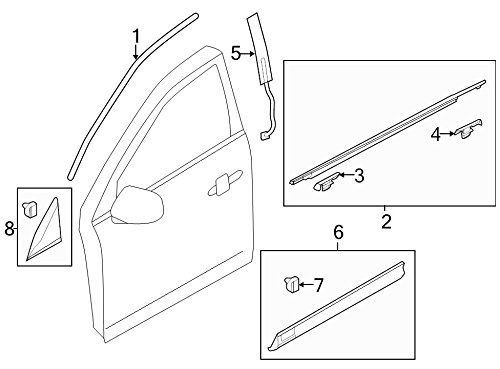 Ford Lincoln OEM 10-15 MKT Exterior-Rear-Applique Window Trim Left BE9Z74255A35A ()