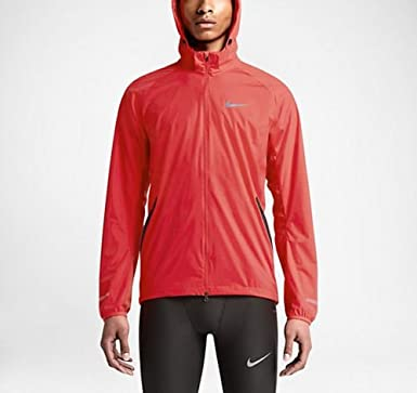 59f8e07aed2d Amazon.com  Nike Men s Shield Light Full Zip Running Jacket Red ...